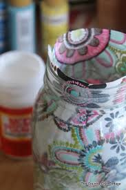 Decorating Mason Jars With Fabric Decorating Jars Five Ways with @plaidcrafts walmartplaid The 1