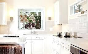 kitchen backsplash white glass gray