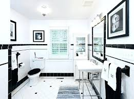 black and white bathroom tile decorative black touches on white subway tile for wall to complete black and white bathroom tile