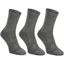 высокие спортивные носки <b>artengo</b> rs 160 x3 серые   novaya ...