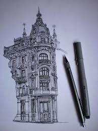architectural building sketches.  Sketches Pen And Ink Architectural Sketch Building Drawing On Behance For Architectural Sketches P