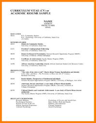 9 Academic Curriculum Vitae Template Time Table Chart