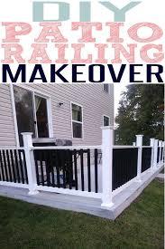 easy diy concrete patio railing idea