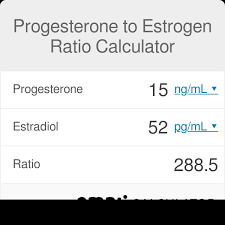 Estrogen And Progesterone Levels In Pregnancy Chart Progesterone To Estrogen Ratio Calculator Omni