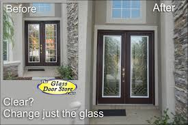 stylish clear glass front door with affordable exterior front entry door remodel