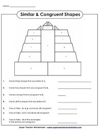 Two triangles are congruent to each other if any of the. Geometry Worksheets Congruent And Similar Shapes