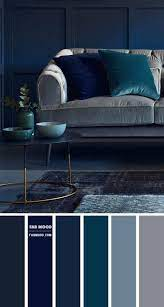 navy blue and grey living room color