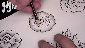 How To Draw Basic Traditional Rose Tattoo Designs By A Tattoo Artist