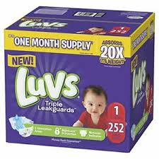 Details About Luvs Ultra Leakguards Baby Diapers Newborn Size 1 2 3 4 5 6 Packaging May Vary