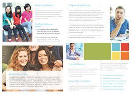 College Templates University College Bi Fold Brochure Template