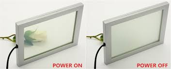 small sample of smart glass