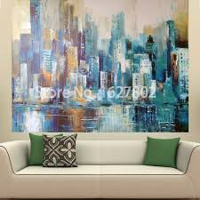 hand painted modern european inspirational large abstract wall art