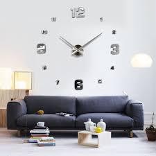 large diy 3d wall clock home decor