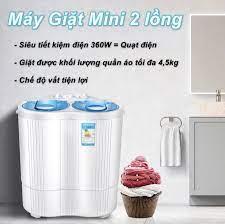 Máy Giặt Mini 2 Lồng 4,5kg có chức năng vắt khô - Máy giặt Nhà sản xuất OEM