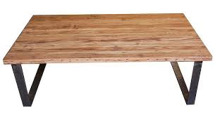 Industrial Modern Metal And Reclamed Wood Coffee Table ...
