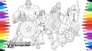 The Avengers Coloring Pages Printable Extremely Inspiration The