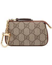 gucci key pouch. gucci | gg supreme key case lyst pouch 8