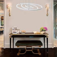 generic circular ring pendant lights 3 2 1 circle rings acrylic aluminum led chandelier stepless dimming with remote control