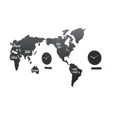 h ikea world map wall clock nordic