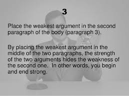 writing an argumentative essay  credibility to youressay 19 3place the weakest argument