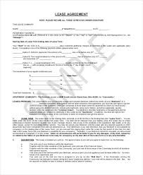 basic lease agreement template sample lease form 21 free documents in pdf