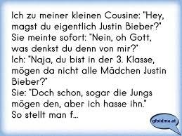 Ich Zu Meiner Kleinen Cousine Hey Magst Du Eigentlich Justin