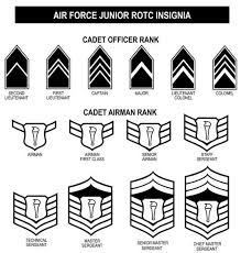 Air Force Insignia Chart Air Force Jrotc Ribbons And Rank Chart