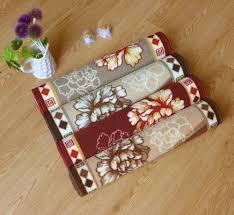 Machine Washable Rugs For Living Room Online Shop 500mm1800mm Modern Floral Kitchen Floor Mat Welcome