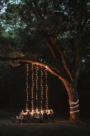 outdoor tree lighting ideas. String Lights From A Tree Outdoor Picnic After Dark. As Cosy Can Be Lighting Ideas