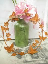 Deko Blütenkranz Kranz Herz Metall Fensterdeko Shabby
