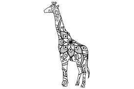 The most common giraffe svg free material is plastic. Giraffe Mandala Line Art Style Svg Cut File By Creative Fabrica Crafts Creative Fabrica