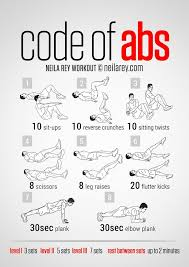code of abs courtesy of neilarey exercise roulette six pack workout at home without equipment video six pack workout at home without equipment