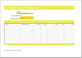 Mileage Template Excel Log Calculator Form Tracking Sheet Templates ...