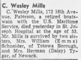 Charles Wesley Mills obituary - Newspapers.com