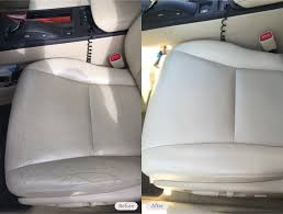 leather drivers seat ing and discoloration repair in tampa