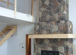 stone veneer fireplace installation fireplaces
