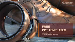 Free Leather Templates Businessmans Accessories Powerpoint Templates