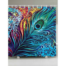 shower curtain shower environmentally friendly. Eco-Friendly Dazzling Peacock Feather Shower Curtain - W71 Inch * L79 Environmentally Friendly 0