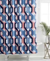 blue and coral shower curtain. trina turk coastline ikat shower curtain blue and coral a