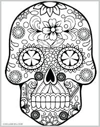 Sugar Skull Color Pages Gyerekpalotainfo