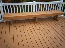 Composite Decking Vinyl Railings With Lighting And Bench In St Louis Built  In Wooden Deck Benches