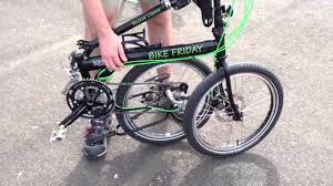 Folding And Unfolding Bike Friday To Keep On Chain Youtube