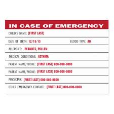 Emergency Card Template Download Now Awesome Medical Emergency Card Template Gallery Top