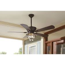 indoor outdoor ceiling fan antique bronze light kit with remote control