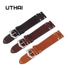 uthai z13 18mm 20mm 22mm 24mm high end retro 100 calf leather watch band