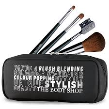 body makeup brush set now 25 00 reg 50 00 synthetic free the soft synthetic fibers distribute just the right amount of pigment for a