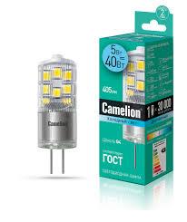 <b>Лампочка Camelion</b> 13865, Холодный свет, <b>G4</b>, 5 Вт, Светодиодная