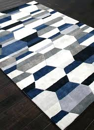 blue and white striped rug 8x10 navy and white rug chic navy blue area rug 1