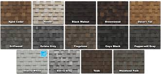 owens corning architectural shingles colors. Delighful Colors Owens Corning Color Chart To Architectural Shingles Colors S