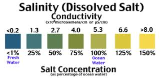 Water Test Chart Salt Brackish And Estuary Water Tests For Salt Water